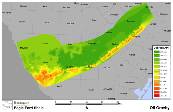 Eagle Ford Shale Oil Gravity