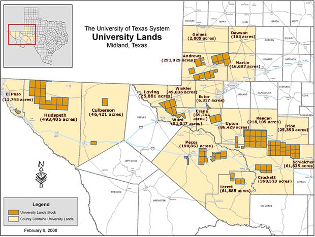 The University of Texas System, University Lands, Midland, Texas